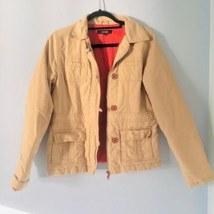 Jackets & Blazers - BEAUTIFUL THICK RED LINED BEIGE WINTER COAT